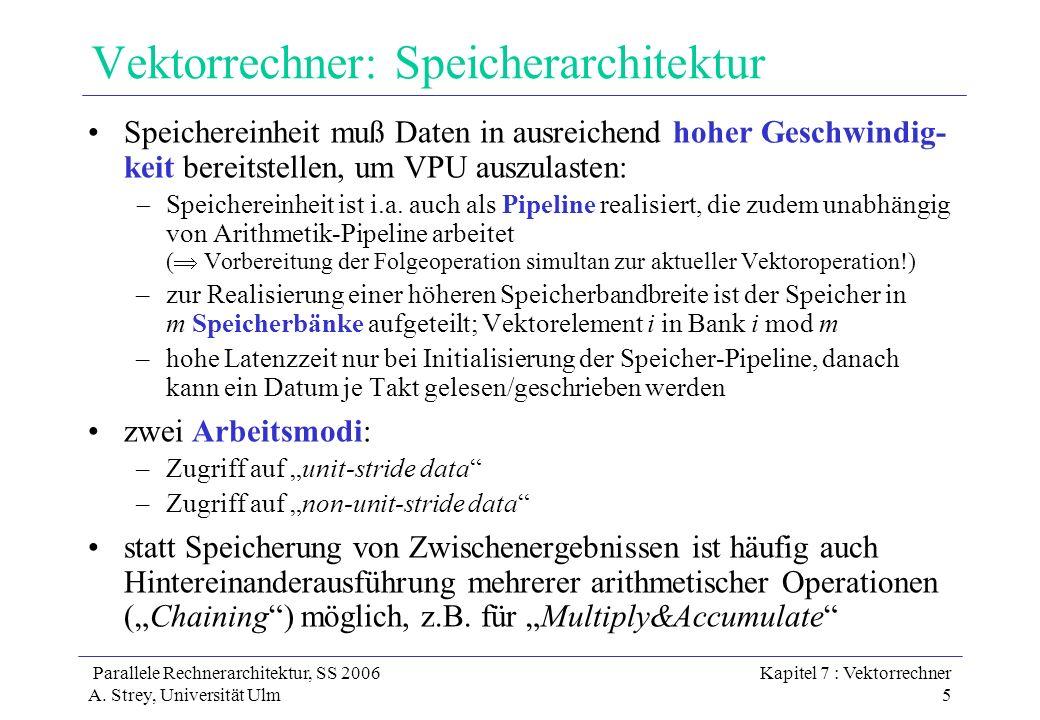 Vektorrechner: Speicherarchitektur