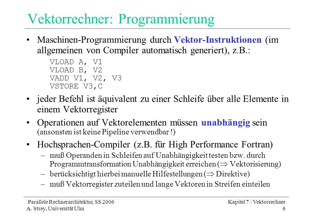 Vektorrechner: Programmierung