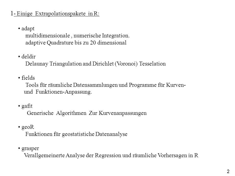 1- Einige Extrapolationspakete in R: