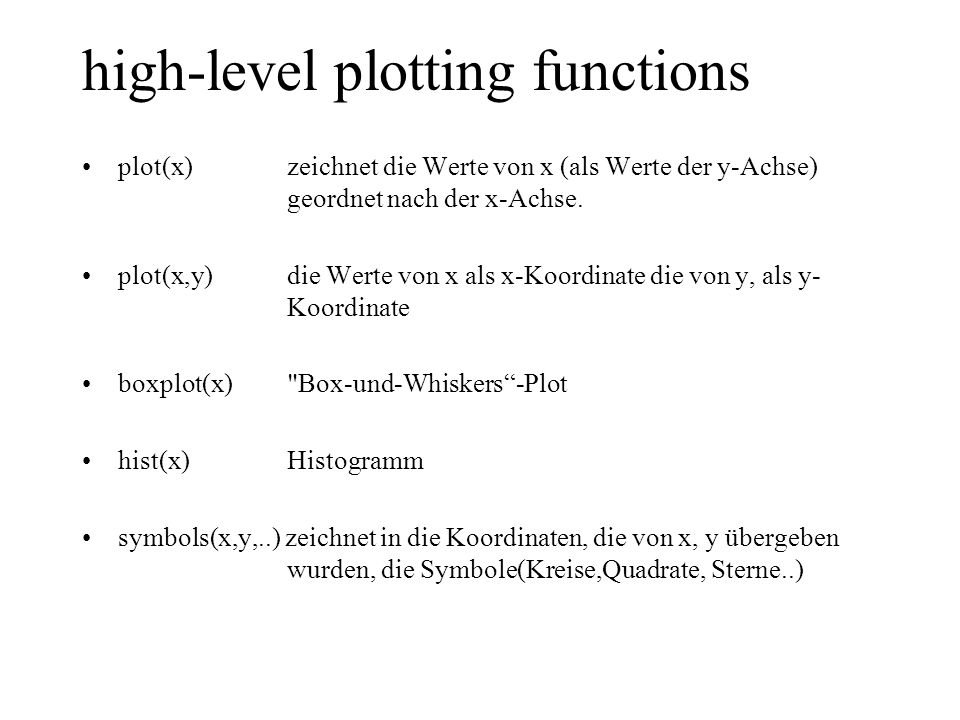 high-level plotting functions