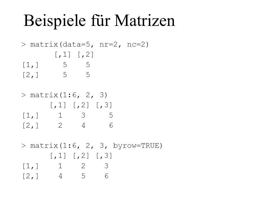 Beispiele für Matrizen
