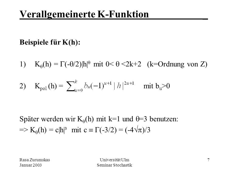 Verallgemeinerte K-Funktion _