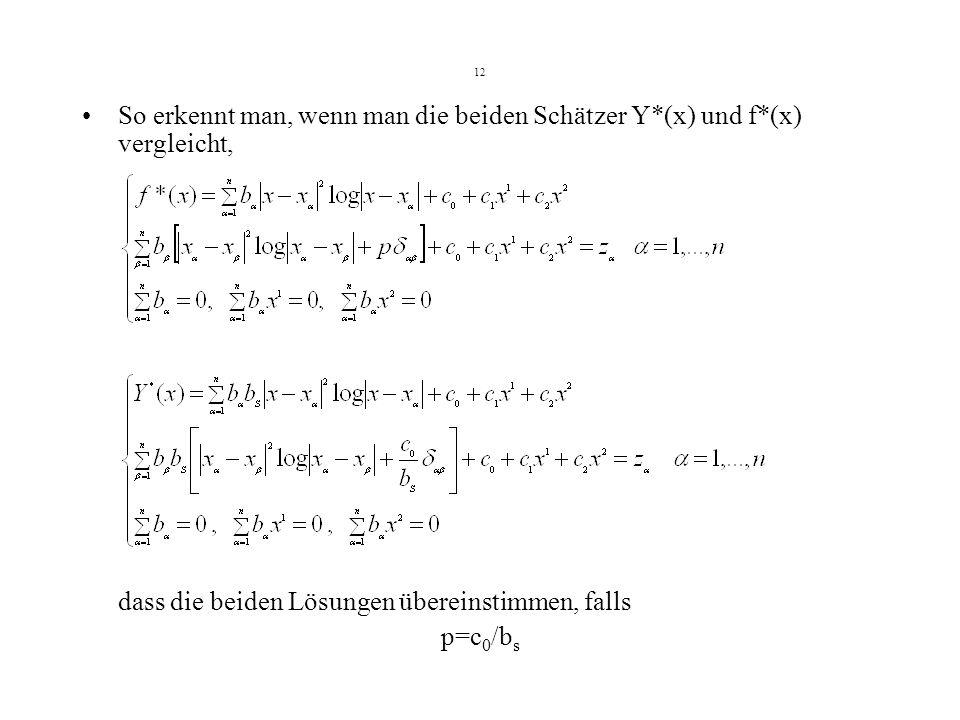 dass die beiden Lösungen übereinstimmen, falls p=c0/bs