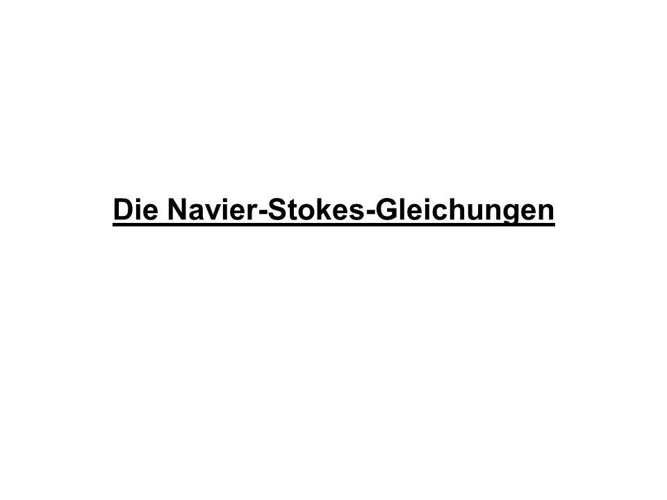 Die Navier-Stokes-Gleichungen