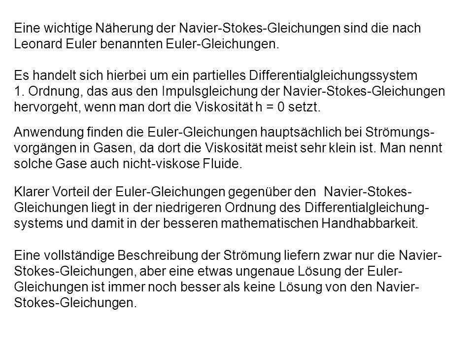 Eine wichtige Näherung der Navier-Stokes-Gleichungen sind die nach