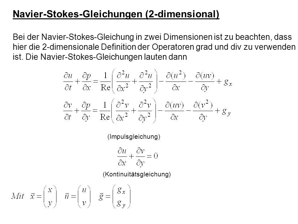 Navier-Stokes-Gleichungen (2-dimensional)