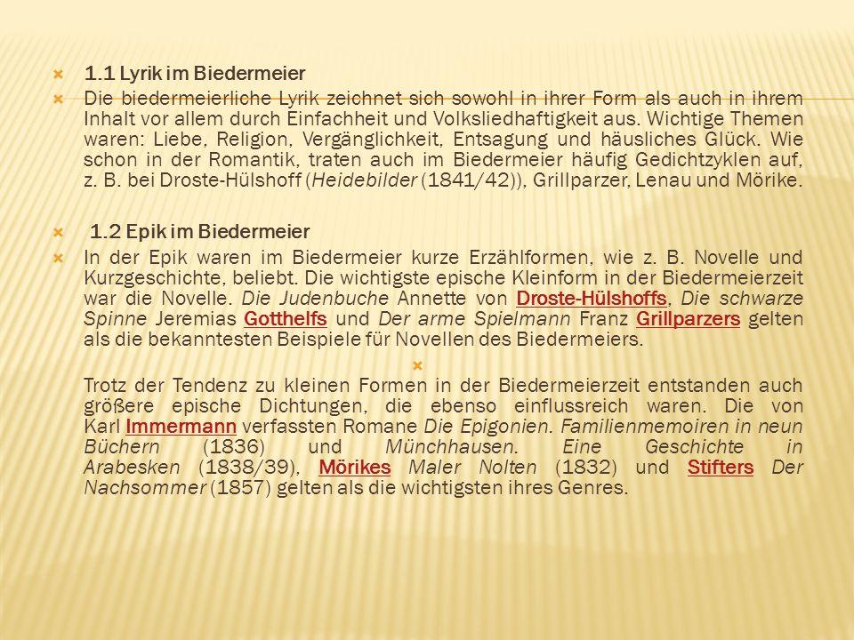 1.1 Lyrik im Biedermeier
