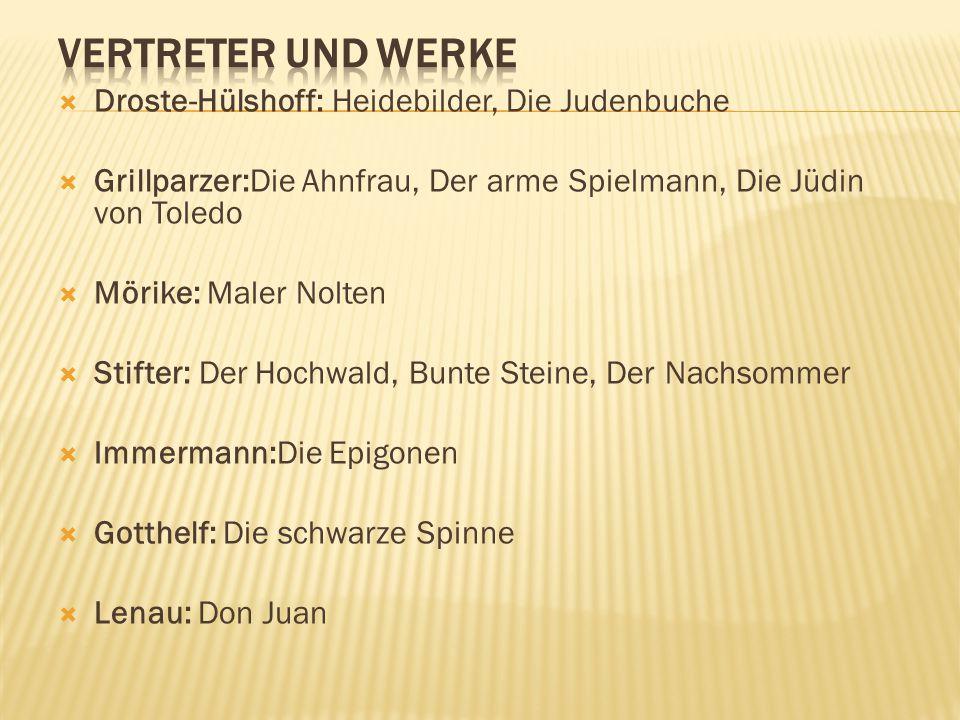Vertreter und Werke Droste-Hülshoff: Heidebilder, Die Judenbuche