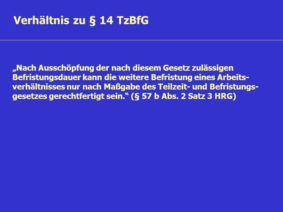 Verhältnis zu § 14 TzBfG