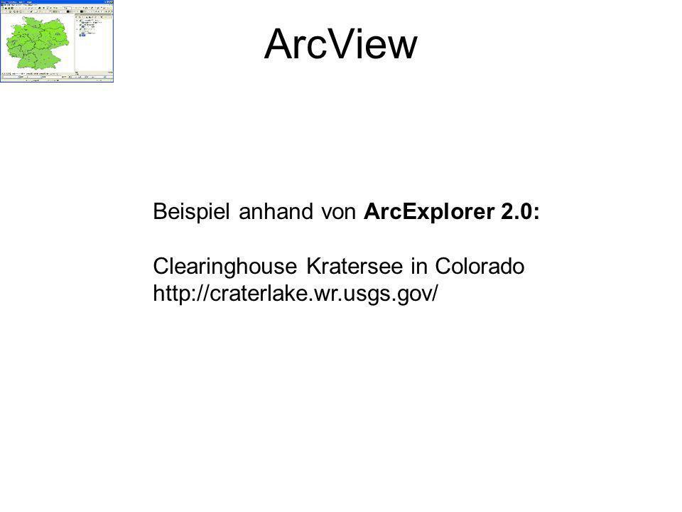 ArcView Beispiel anhand von ArcExplorer 2.0:
