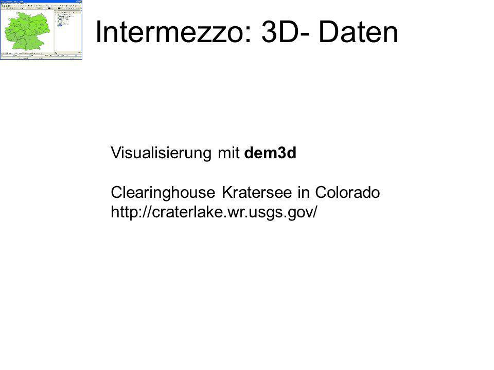 Intermezzo: 3D- Daten Visualisierung mit dem3d