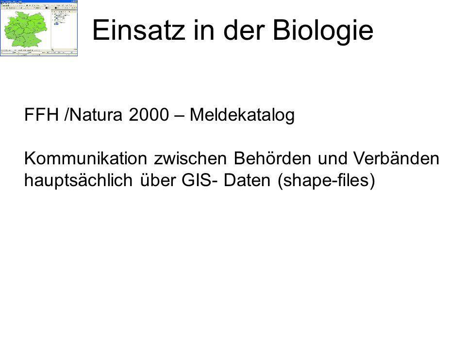 Einsatz in der Biologie
