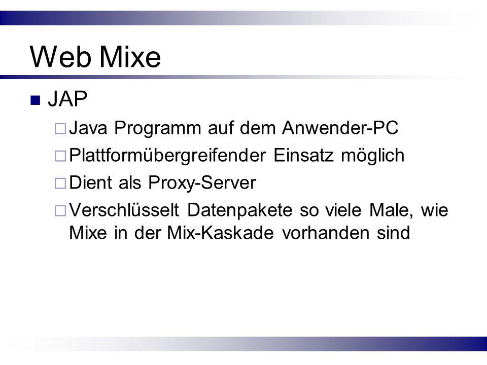 Web Mixe JAP Java Programm auf dem Anwender-PC