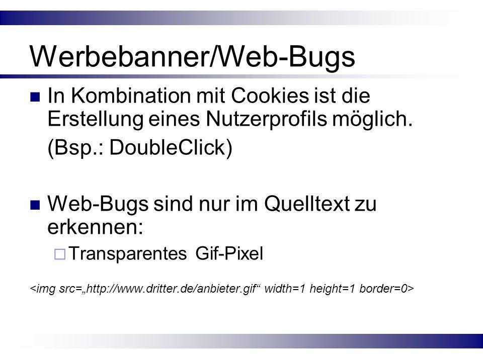 Werbebanner/Web-Bugs
