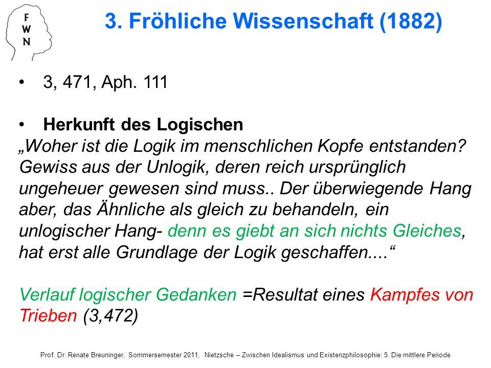 3. Fröhliche Wissenschaft (1882)