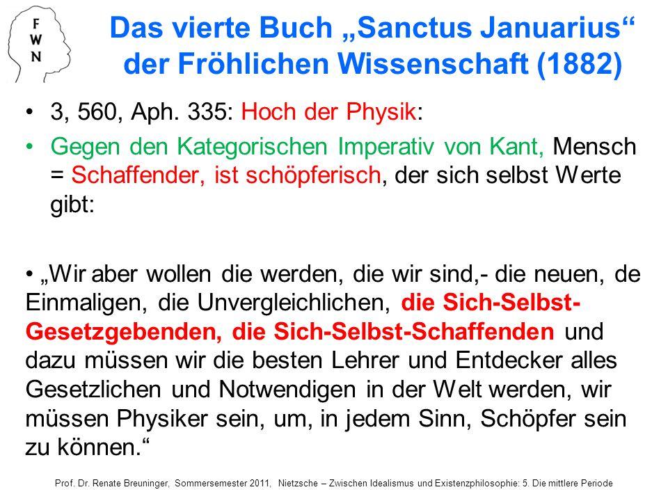 """Das vierte Buch """"Sanctus Januarius der Fröhlichen Wissenschaft (1882)"""