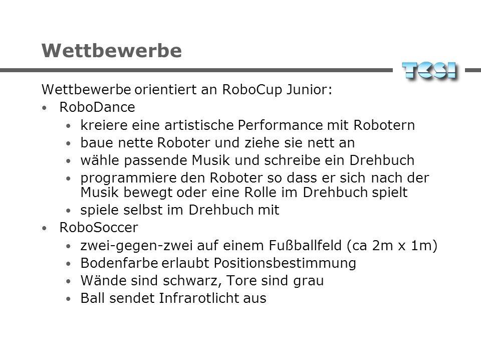 Wettbewerbe Wettbewerbe orientiert an RoboCup Junior: RoboDance