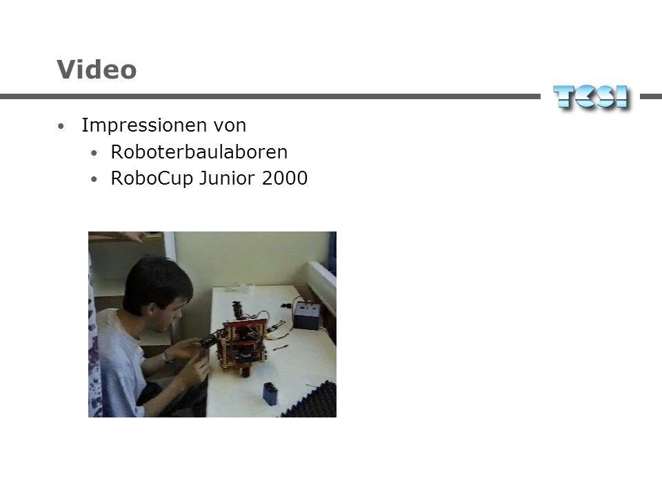 Video Impressionen von Roboterbaulaboren RoboCup Junior 2000