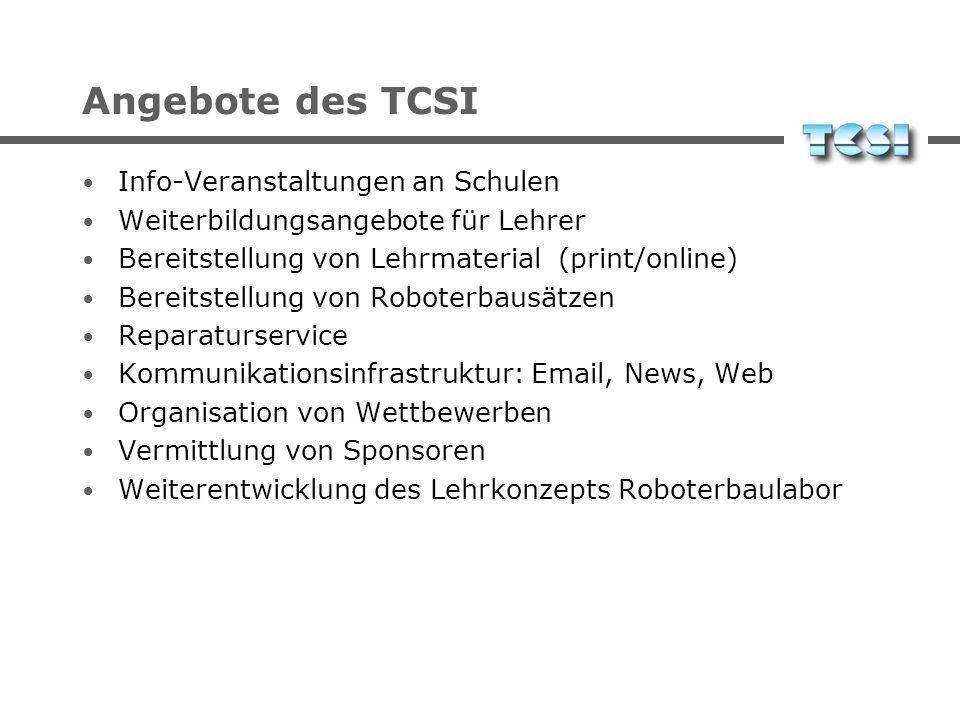 Angebote des TCSI Info-Veranstaltungen an Schulen