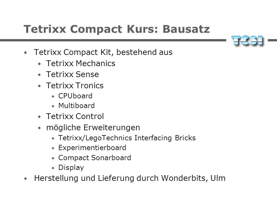 Tetrixx Compact Kurs: Bausatz