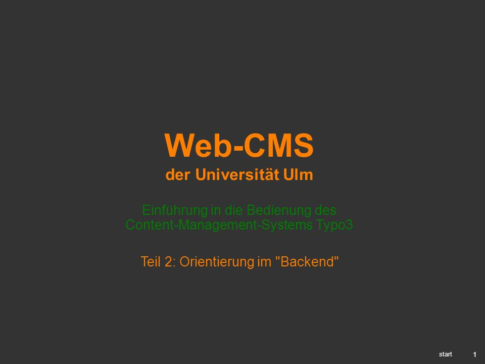 Web-CMS der Universität Ulm