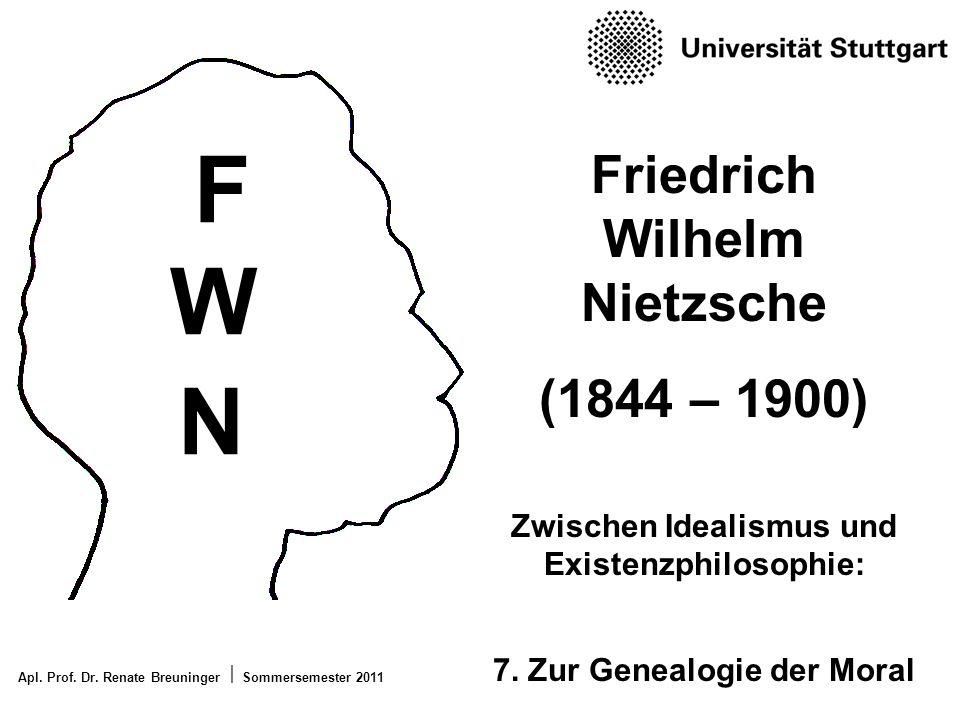 F W N Friedrich Wilhelm Nietzsche (1844 – 1900)