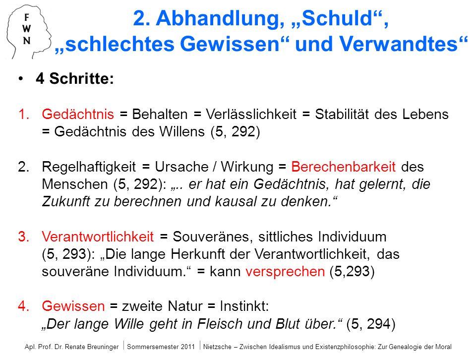 """2. Abhandlung, """"Schuld , """"schlechtes Gewissen und Verwandtes"""