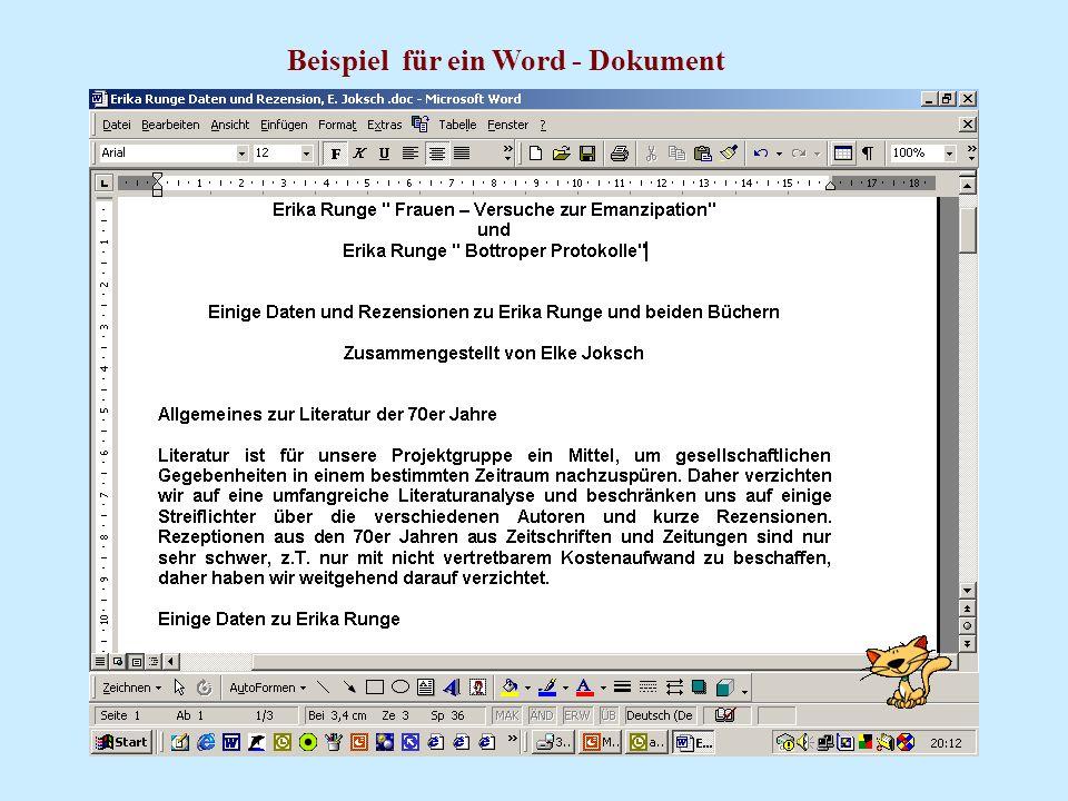 Beispiel für ein Word - Dokument