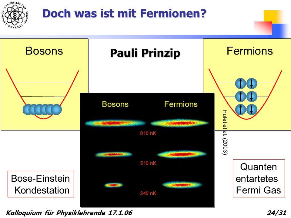 Doch was ist mit Fermionen