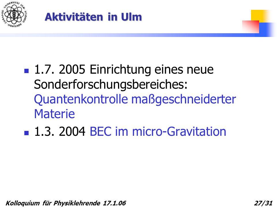 1.3. 2004 BEC im micro-Gravitation