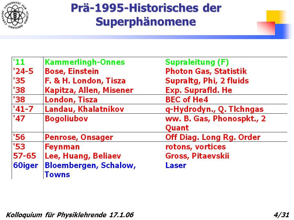Prä-1995-Historisches der Superphänomene