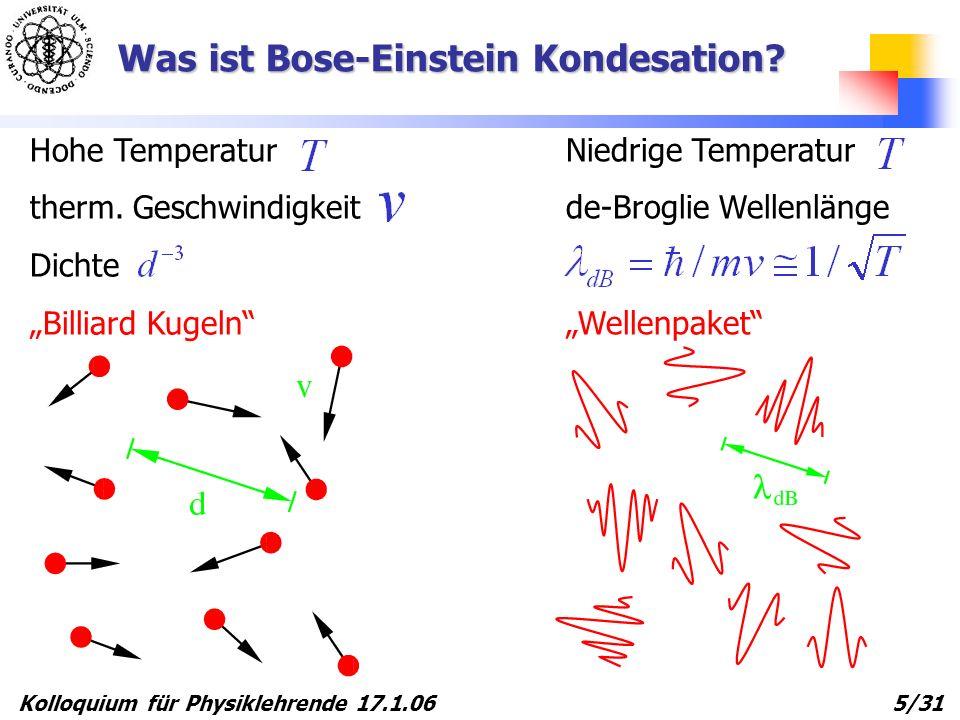 Was ist Bose-Einstein Kondesation