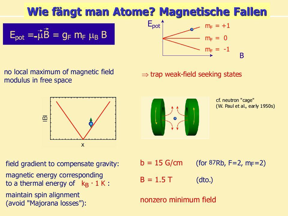 Wie fängt man Atome Magnetische Fallen