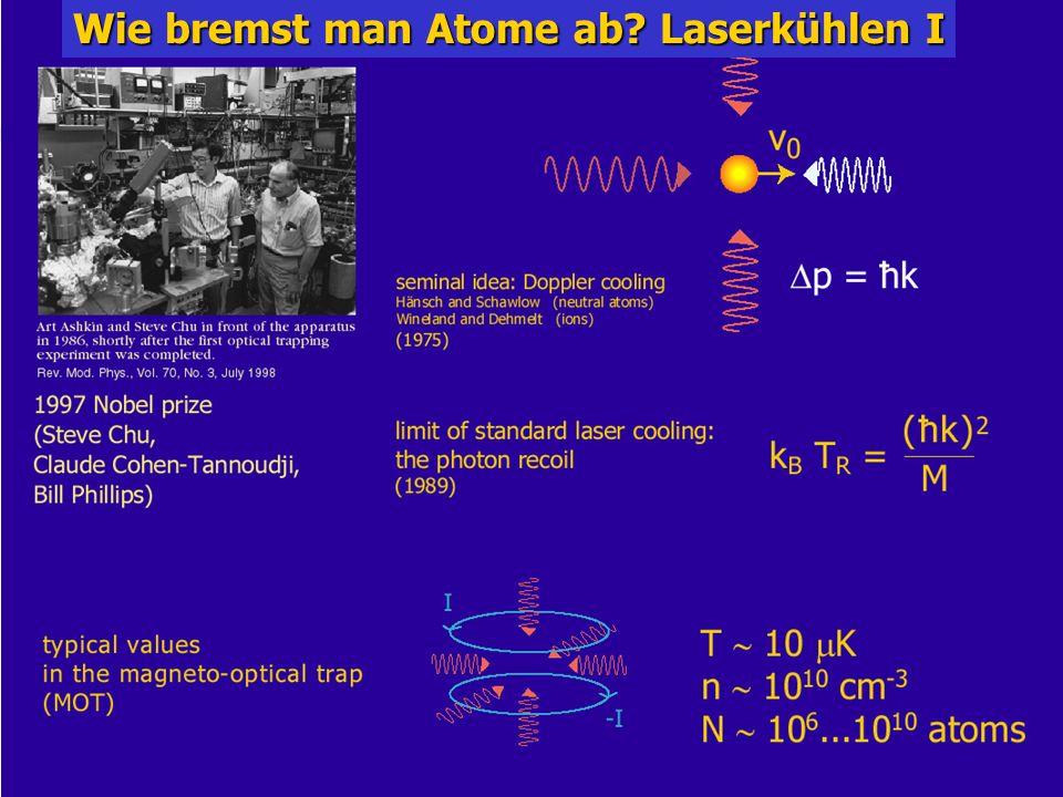 Wie bremst man Atome ab Laserkühlen I