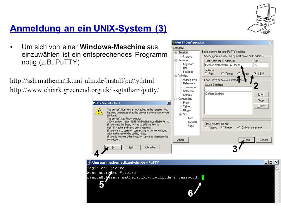 Anmeldung an ein UNIX-System (3)