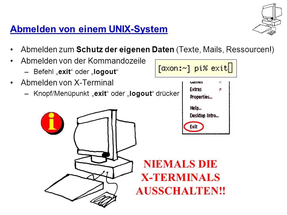 Abmelden von einem UNIX-System