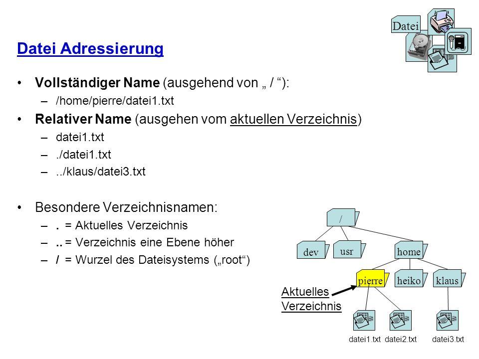 """Datei Adressierung Vollständiger Name (ausgehend von """" / ):"""