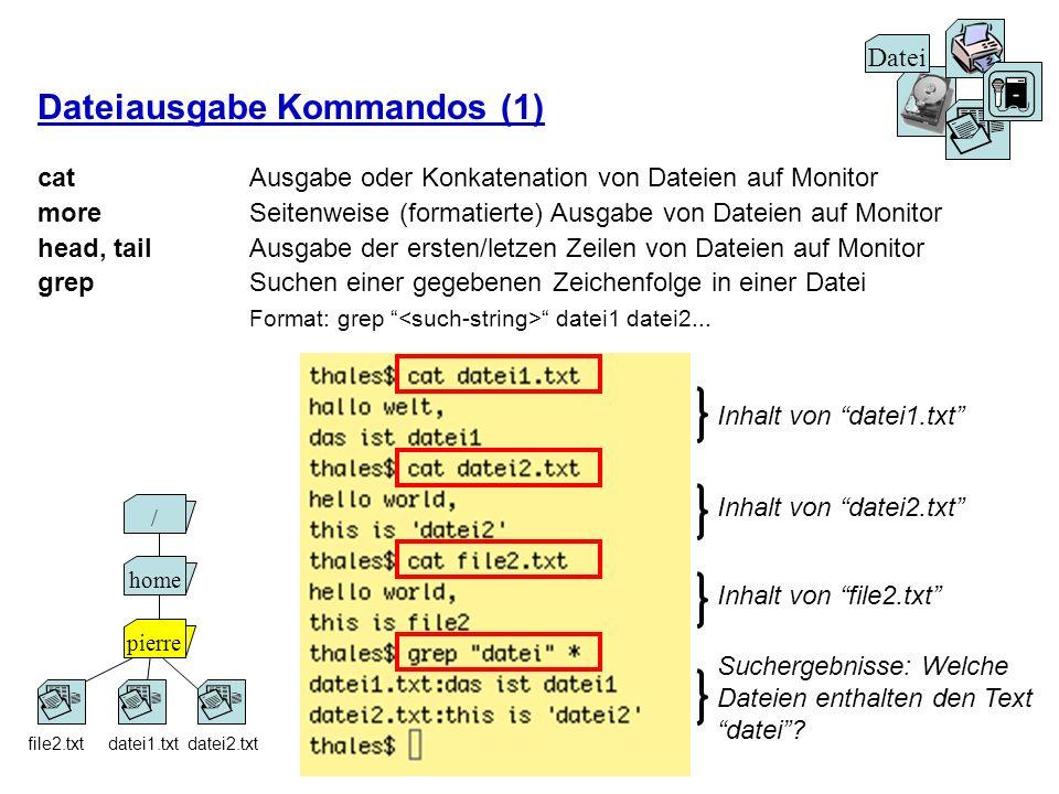 Dateiausgabe Kommandos (1)