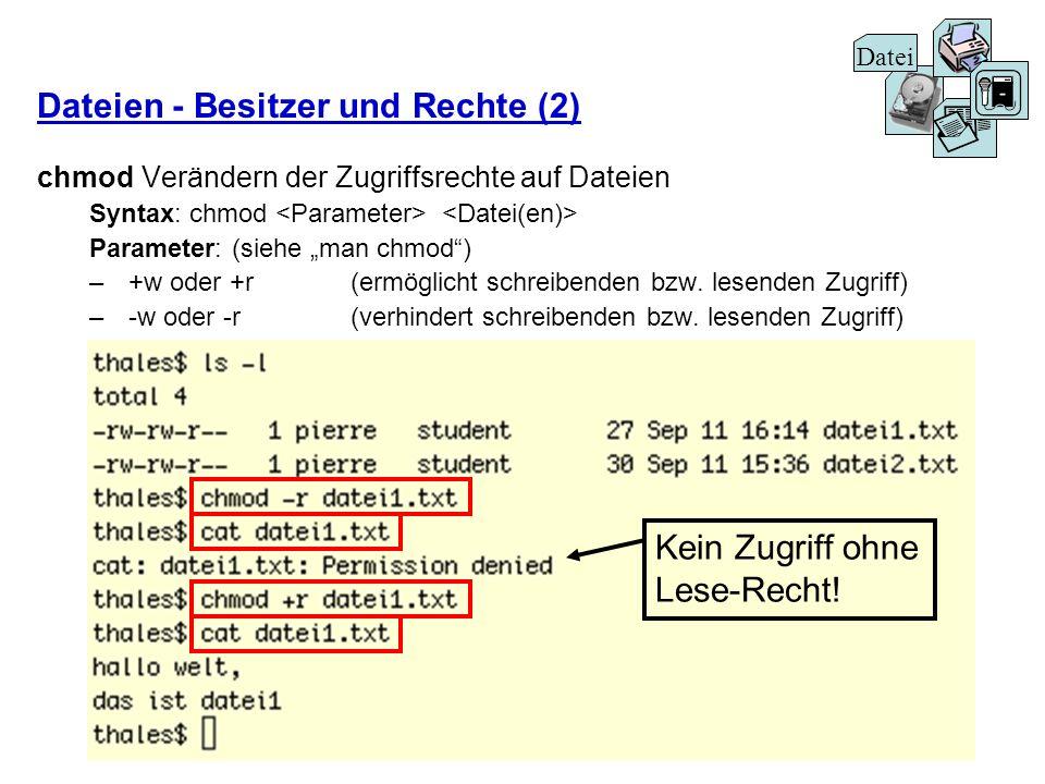 Dateien - Besitzer und Rechte (2)