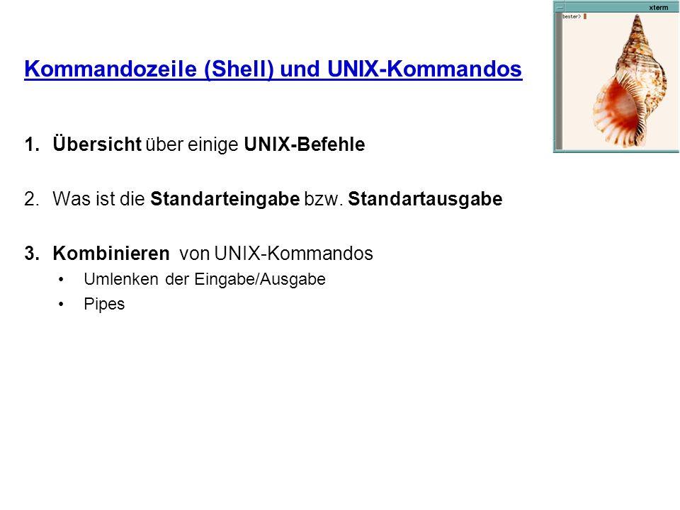 Kommandozeile (Shell) und UNIX-Kommandos