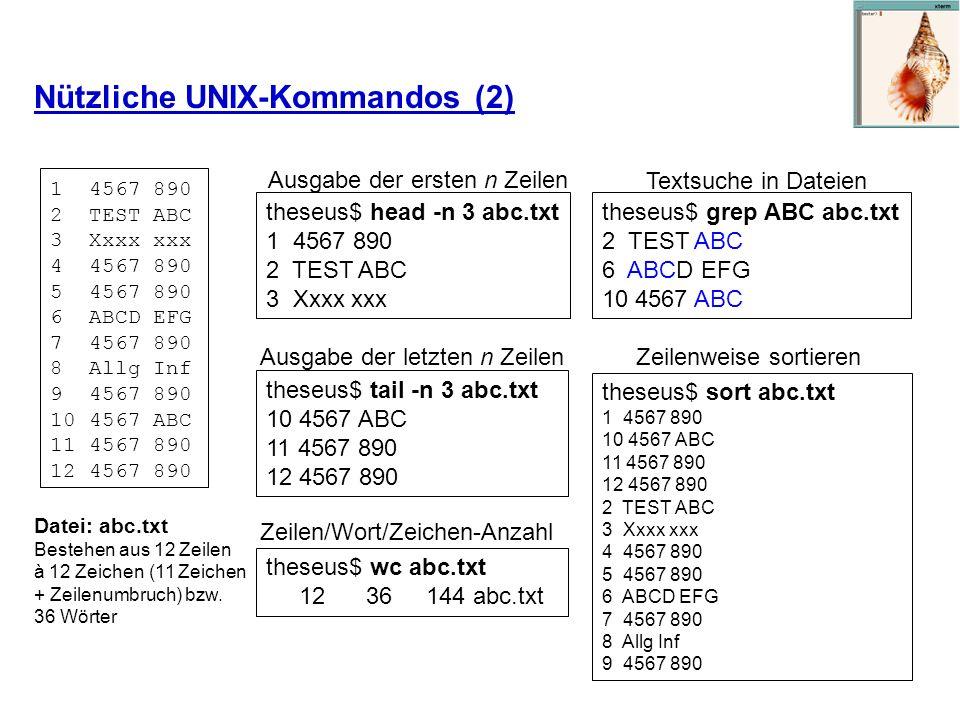 Nützliche UNIX-Kommandos (2)