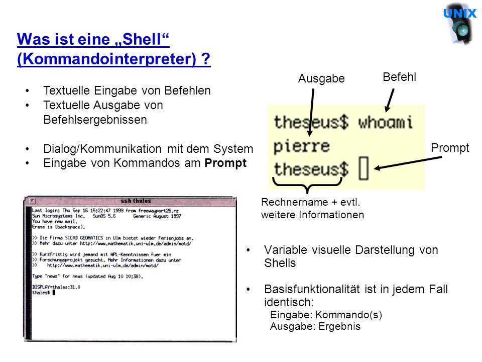 """Was ist eine """"Shell (Kommandointerpreter)"""