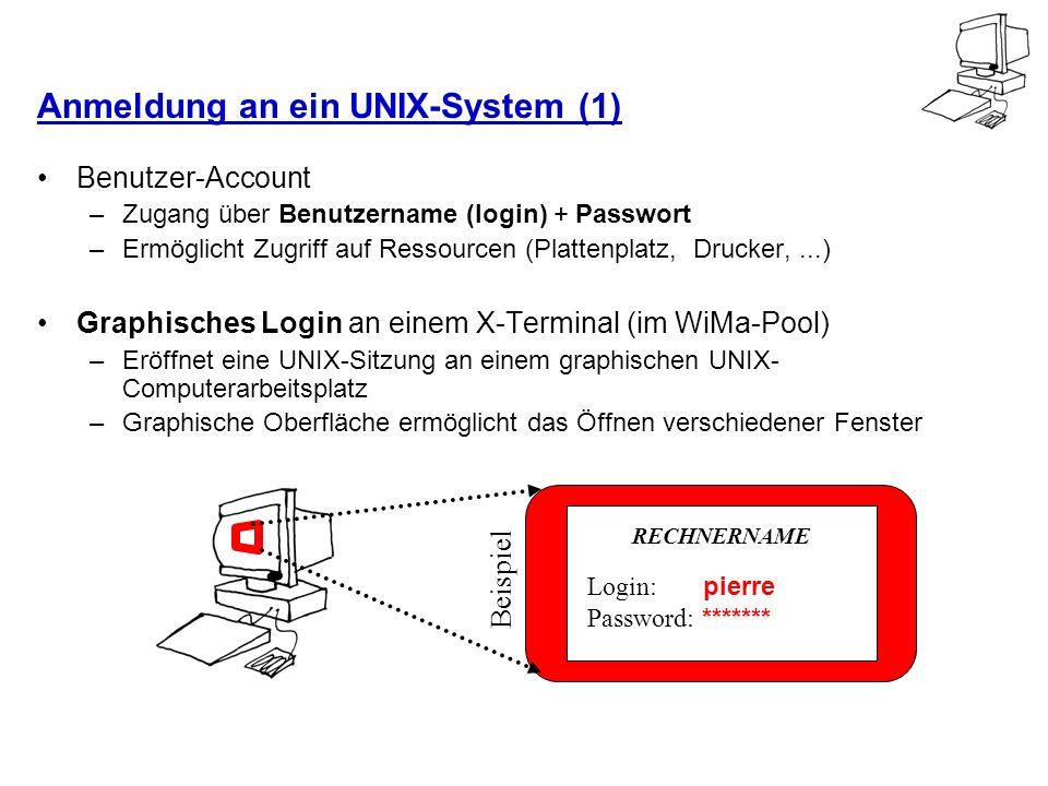 Anmeldung an ein UNIX-System (1)