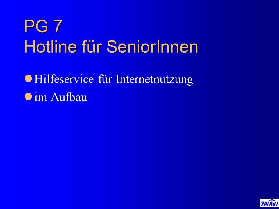 PG 7 Hotline für SeniorInnen