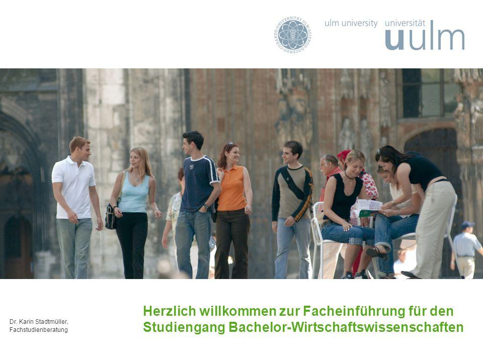 Herzlich willkommen zur Facheinführung für den Studiengang Bachelor-Wirtschaftswissenschaften