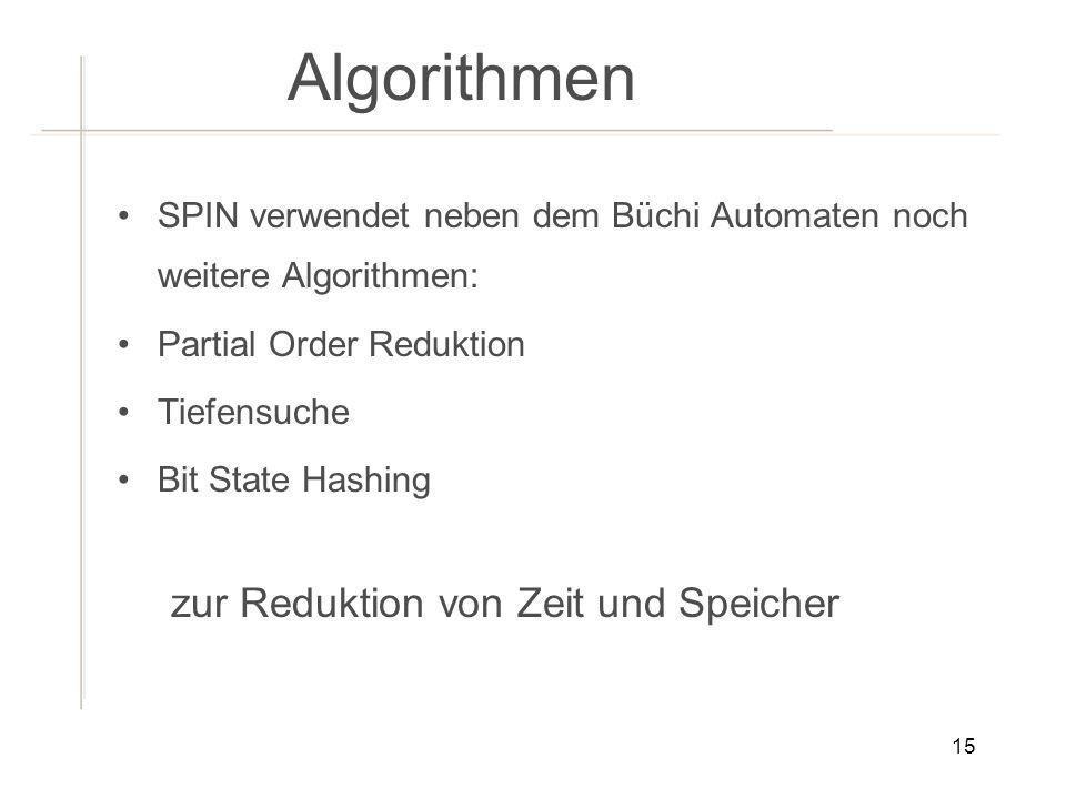 Algorithmen zur Reduktion von Zeit und Speicher