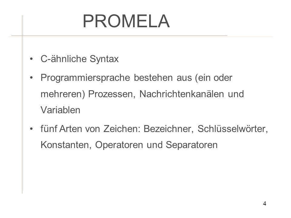 PROMELA C-ähnliche Syntax