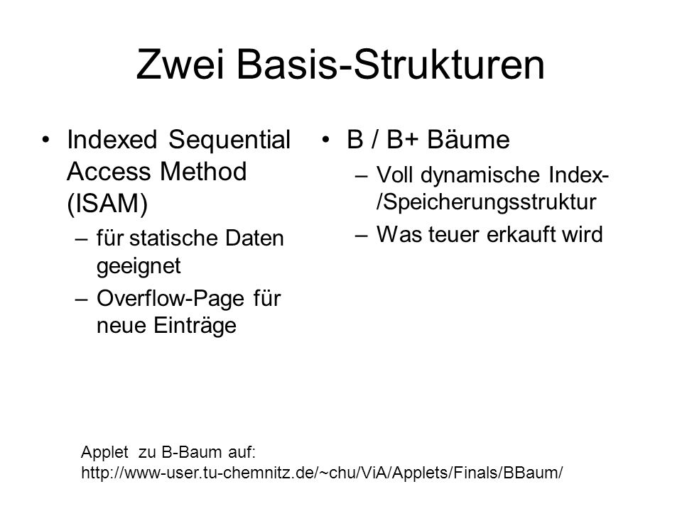 Zwei Basis-Strukturen