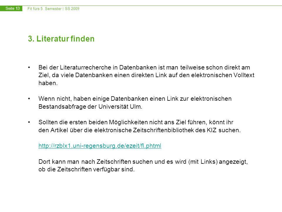 3. Literatur finden