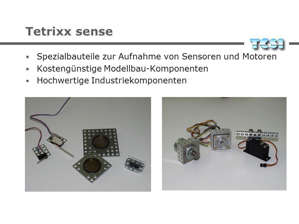 Tetrixx sense Spezialbauteile zur Aufnahme von Sensoren und Motoren